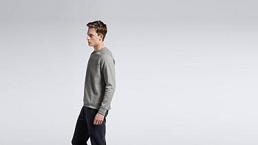 STYX V1.Y0.01 Relaxed Raglan Sweatshirt grey / melange Front Main Alpha Tauri