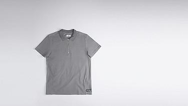 JETS V1.Y0.01 Sportliches Kurzarm-Polo grey / melange Hinten Alpha Tauri
