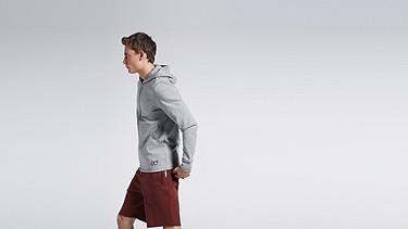 SETH V1.Y0.01 Soft Zip-up Hoody grey / melange Front Main Alpha Tauri