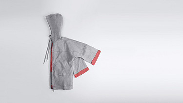 SMEX V1.Y0.01 Light Zip-up Hoody grey / melange Back Alpha Tauri