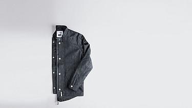 OSYP V1.Y0.02 Modern Denim Jacket blue Back Alpha Tauri