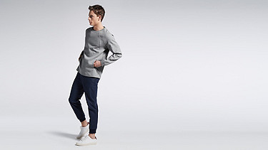 STOE V1.Y0.02 Herobranding Sweatshirt grey Front Main Alpha Tauri