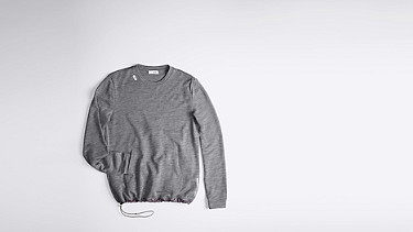 FOSH V1.Y0.02 Relaxed Wool Sweatshirt grey Back Alpha Tauri