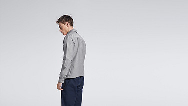 WIDT V1.Y0.02 Oxford Shirt grey Front Alpha Tauri
