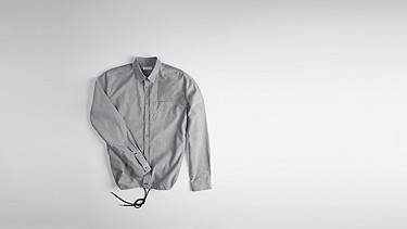 WIDT V1.Y0.02 Oxford Shirt grey Back Alpha Tauri