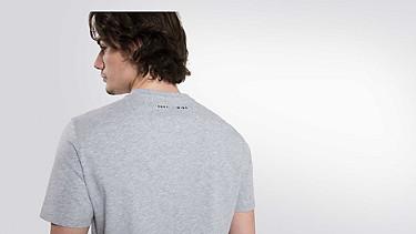 BUCK V-neck Taurex® T-shirt grey / melange Front Alpha Tauri
