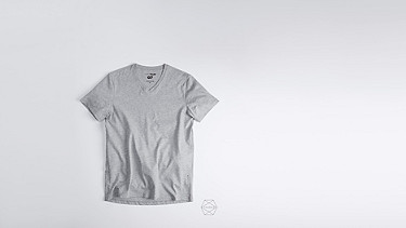 BUCK Taurex V-neck T-shirt grey / melange Back Alpha Tauri