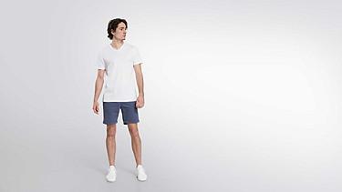 BUCK Taurex® T-Shirt mit V-Ausschnitt white Haupt Vorne Alpha Tauri