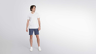 BUCK V-neck Taurex® T-shirt white Front Main Alpha Tauri