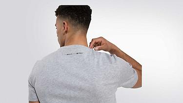 BARU Taurex-T-Shirt mit Rundausschnitt grey / melange Vorne Alpha Tauri