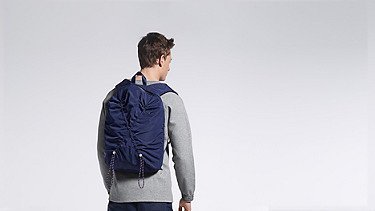 ARAI V1.Y0.02 Soft Backpack navy Front Alpha Tauri