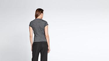 FINI V1.Y0.02 Woollen T-Shirt dark grey / anthracite Front Alpha Tauri