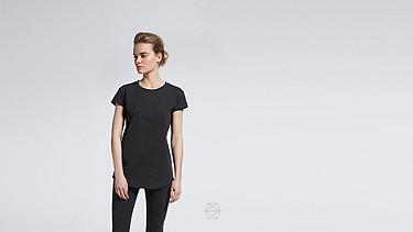 BARA Cap-Sleeved Taurex® T-shirt black Alpha Tauri