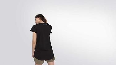 BARA Cap-Sleeved Taurex® T-shirt black Front Alpha Tauri