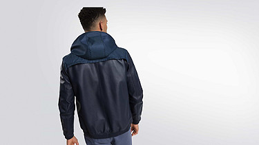 OLIN V1.Y1.01 Leather Jacket navy Front Alpha Tauri