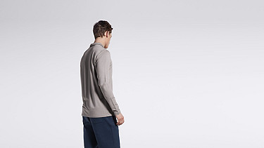 JOOK V1.Y1.01 Long-sleeved Polo grey Front Alpha Tauri