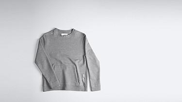 SAVO V1.Y1.01 Sweatshirt with Kangaroo Pocket grey Back Alpha Tauri