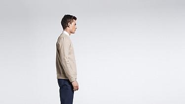 SAVO V1.Y1.01 Sweatshirt with Kangaroo Pocket beige - sand Front Main Alpha Tauri