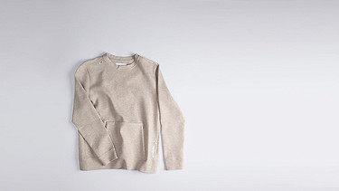 SAVO V1.Y1.01 Sweatshirt with Kangaroo Pocket beige - sand Back Alpha Tauri