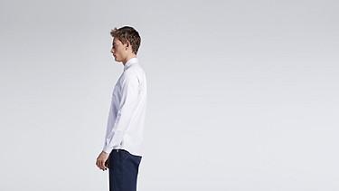 WIDT V2.Y1.01 Oxford Shirt white Front Main Alpha Tauri
