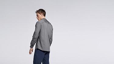WADE V1.Y1.01 Sportliches Hemd grey Vorne Alpha Tauri