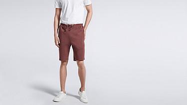 PUGH V1.Y1.01 Jersey-Shorts bordeaux Model Foto Alpha Tauri