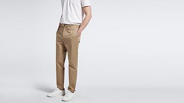 PRIT V1.Y1.01 Contemporary Pant beige - sand Model shot Alpha Tauri