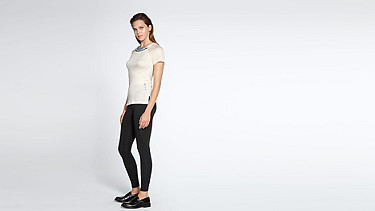 JENA V1.Y1.01 Stripe-detail T-shirt offwhite Front Main Alpha Tauri