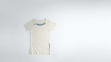 JENA V1.Y1.01 Cashmere-mix T-Shirt with Collar Detail offwhite Back Alpha Tauri