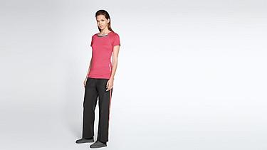 JENA V1.Y1.01 Stripe-detail T-shirt coral Front Main Alpha Tauri