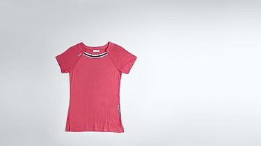 JENA V1.Y1.01 Stripe-detail T-shirt coral Back Alpha Tauri