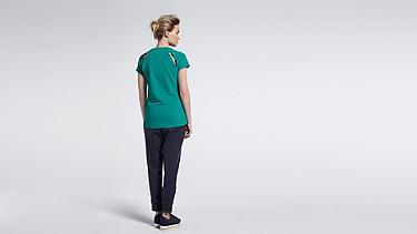 JERA V1.Y1.01 T-Shirt mit Schulterschlitzen green Vorne Alpha Tauri
