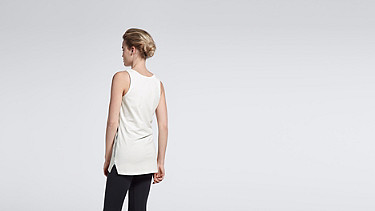 JOLA V1.Y1.01 Shaped Tank-top white Front Alpha Tauri