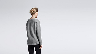 SAYA V1.Y1.01 Lace-up sweatshirt grey Front Alpha Tauri