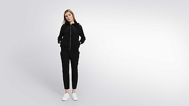 ORLA V1.Y1.01 Perforated Hooded Jacket black Front Main Alpha Tauri