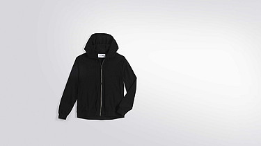 ORLA V1.Y1.01 Perforated Hooded Jacket black Back Alpha Tauri