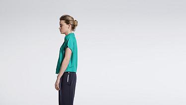 WABI V1.Y1.01 Short-sleeved Blouse turquoise Front Alpha Tauri
