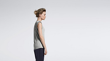 JAMA V1.Y1.01 Crop-sleeved T-shirt grey / melange Front Main Alpha Tauri