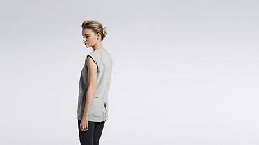 SUSA V1.Y1.01 Sweatshirt mit Reißverschluss grey / melange Vorne Alpha Tauri
