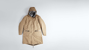 KORE V4.Y1.02 Two-piece Insulated Parka beige - sand Back Alpha Tauri
