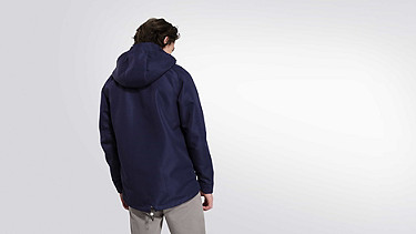 OHEM V1.Y1.02 Hooded Taurex® Jacket navy Front Alpha Tauri