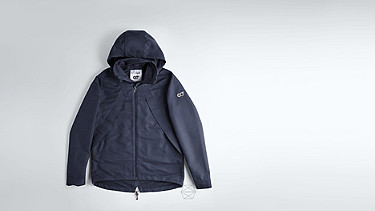 OHEM V1.Y1.02 Hooded Taurex® Jacket navy Back Alpha Tauri