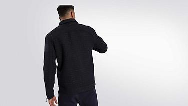 OHNA V1.Y1.02 Wool Jacket navy Front Alpha Tauri