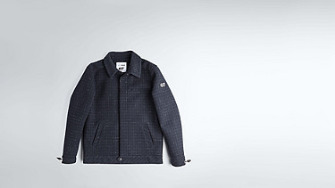 OHNA V1.Y1.02 Wool Jacket navy Back Alpha Tauri
