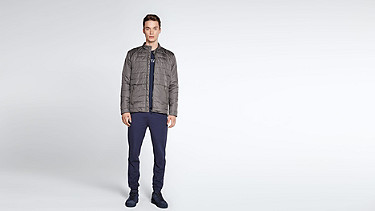 OSSO V1.Y1.02 Quilted Jacket grey Front Main Alpha Tauri