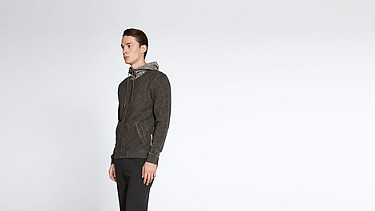 SOLF V3.Y1.02 Cold Dye Sweat Jacket camouflage Front Alpha Tauri
