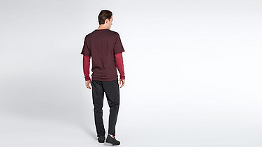 SADT V1.Y1.02 Layered Sweatshirt bordeaux Front Main Alpha Tauri