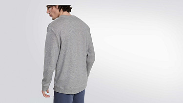 SPUC V1.Y1.02 V-detailed Sweatshirt grey / melange Front Alpha Tauri