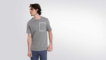 JUJO V2.Y1.02 Technisches Sweat T-Shirt grey / melange Model Foto Alpha Tauri