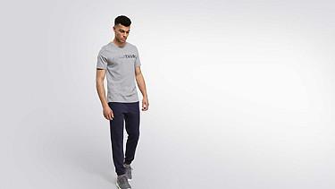 JIGU V1.Y1.02 Logo T-Shirt grey / melange Haupt Vorne Alpha Tauri